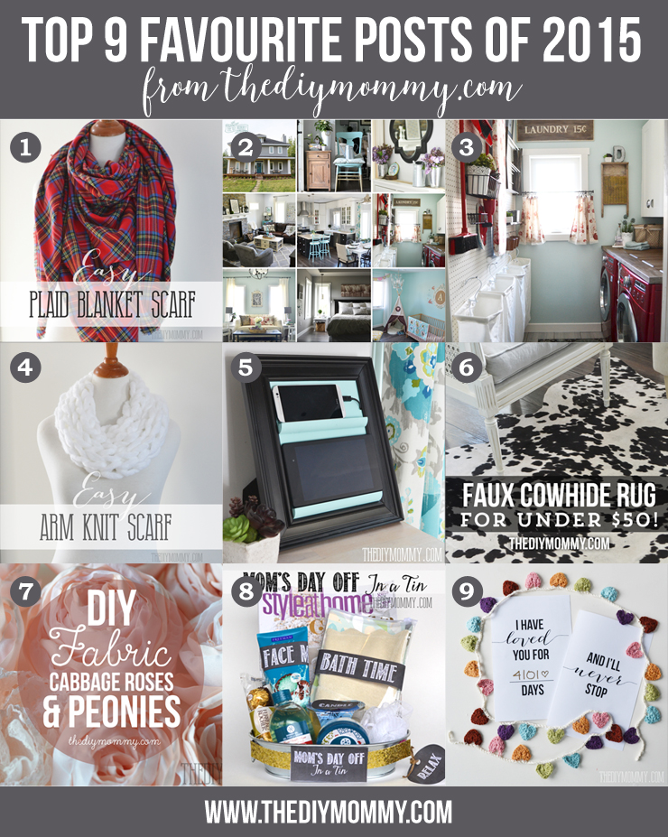 9 Top DIY Posts of 2015 from The DIY Mommy