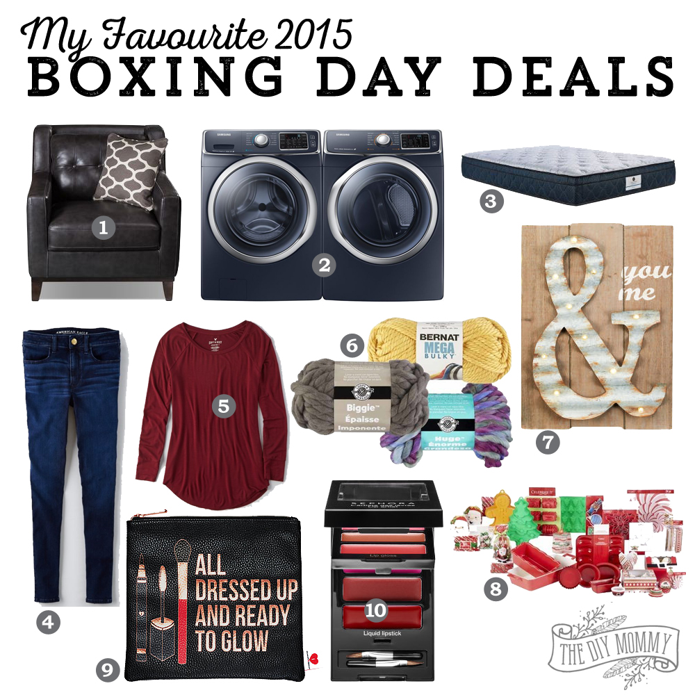 The DIY Mommy's Favourite Boxing Day Deals 2015