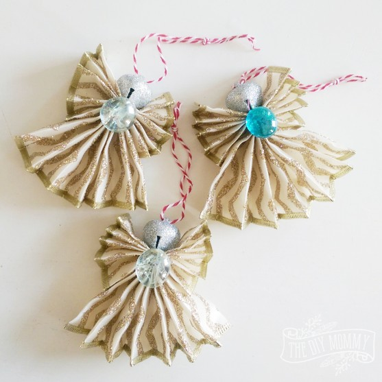 how to make a christmas angel ornament out of wired ribbon