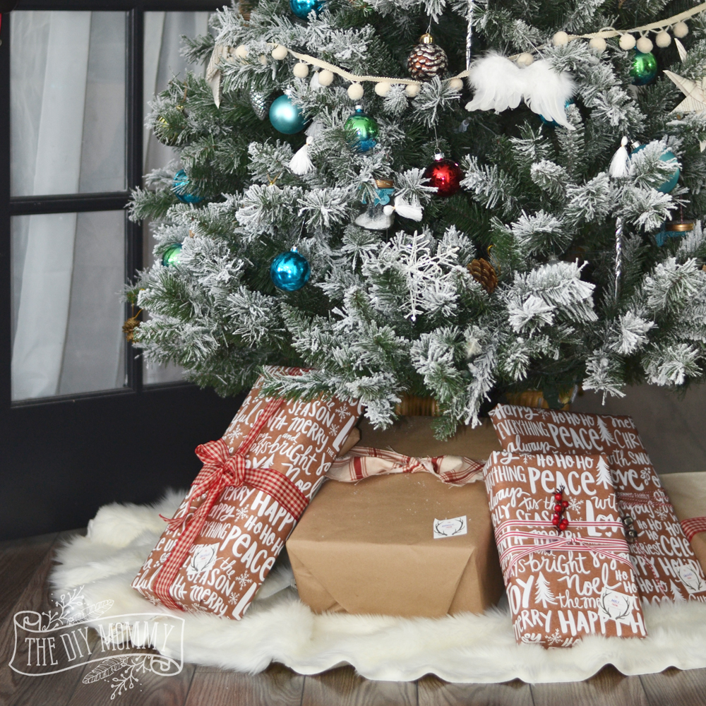 Make A No Sew Faux Fur Christmas Tree Skirt #HomeForChristmas