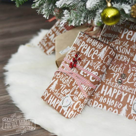 Make A No Sew Faux Fur Christmas Tree Skirt #HomeForChristmas ...