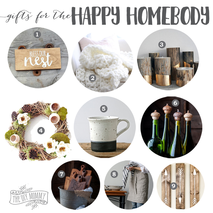 Beautiful handmade home decor gift ideas with a rustic glam spin!