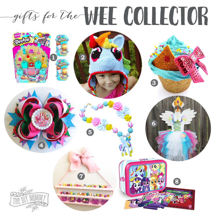 Handmade & store bought gift ideas for little ones who love to collect Shopkins and My Little Pony!