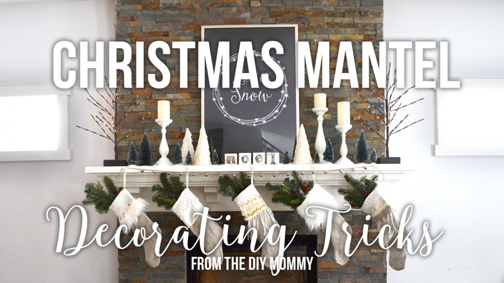How to decorate a Christmas mantel (video)
