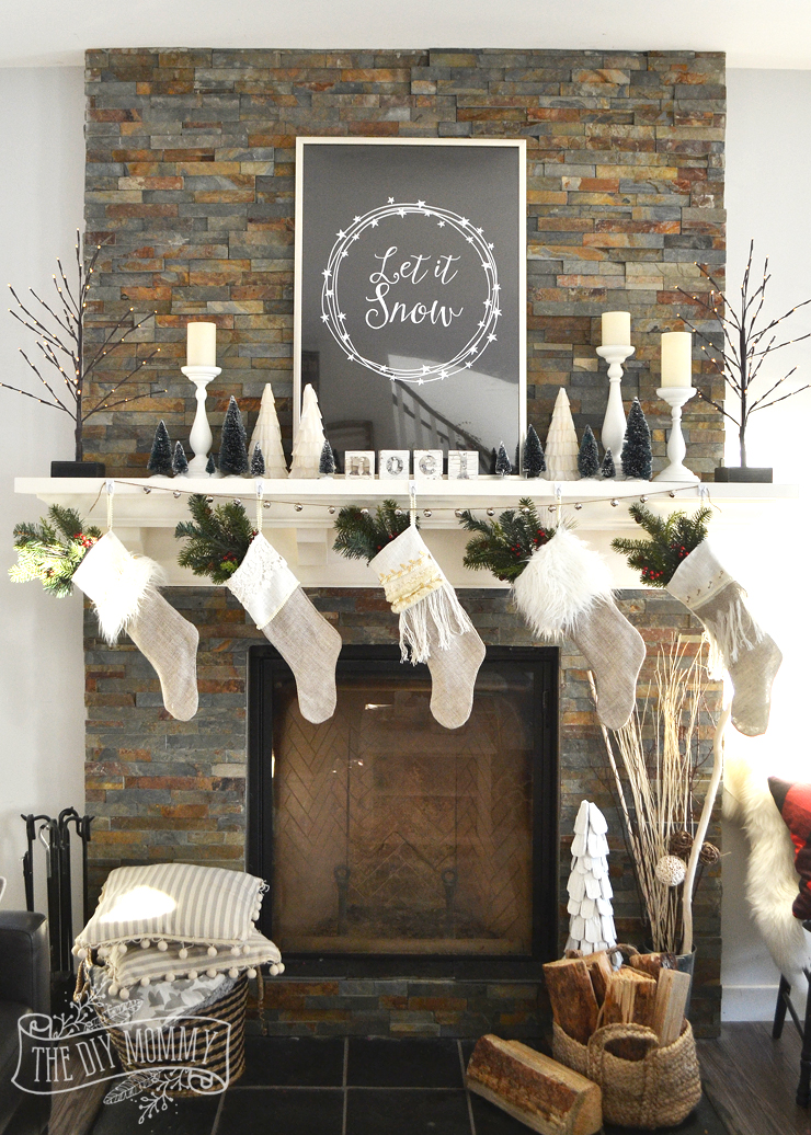 how to decorate a christmas mantel video