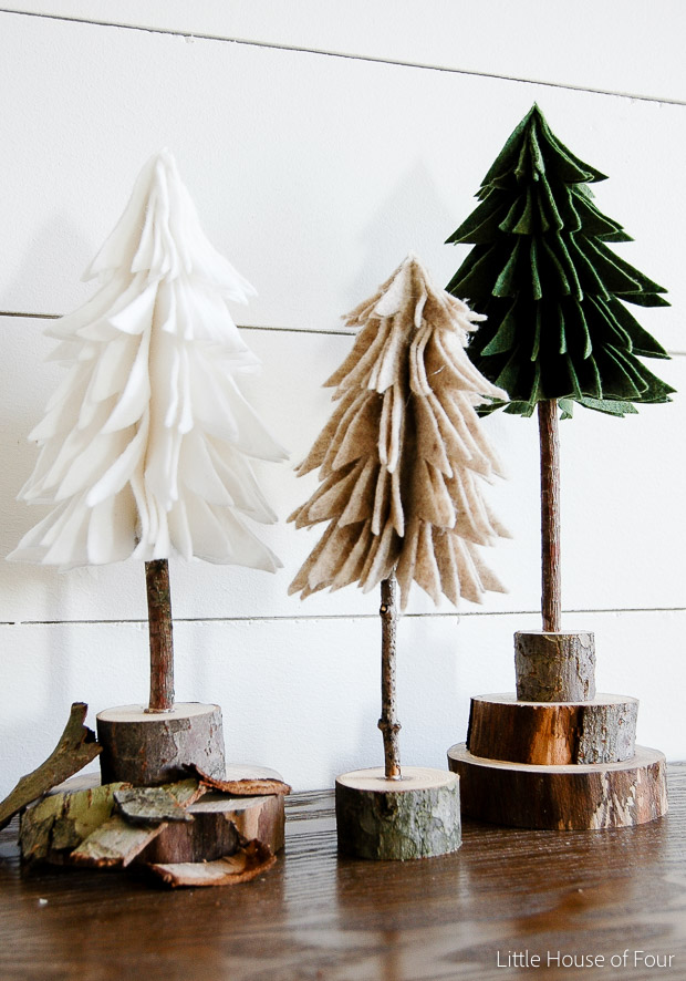 Little Christmas Trees Part - 44: Rustic Felt Christmas Trees