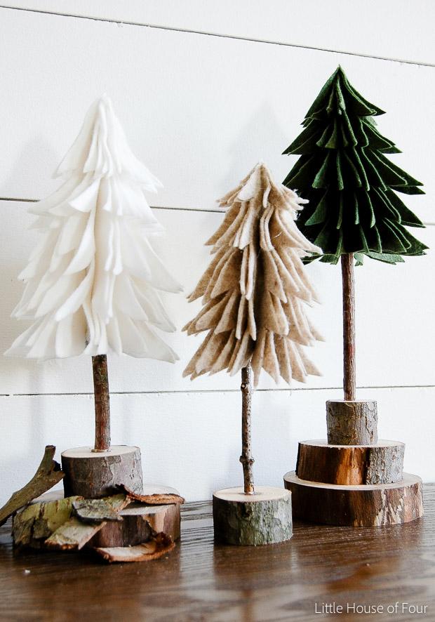 Rustic Felt Christmas Trees