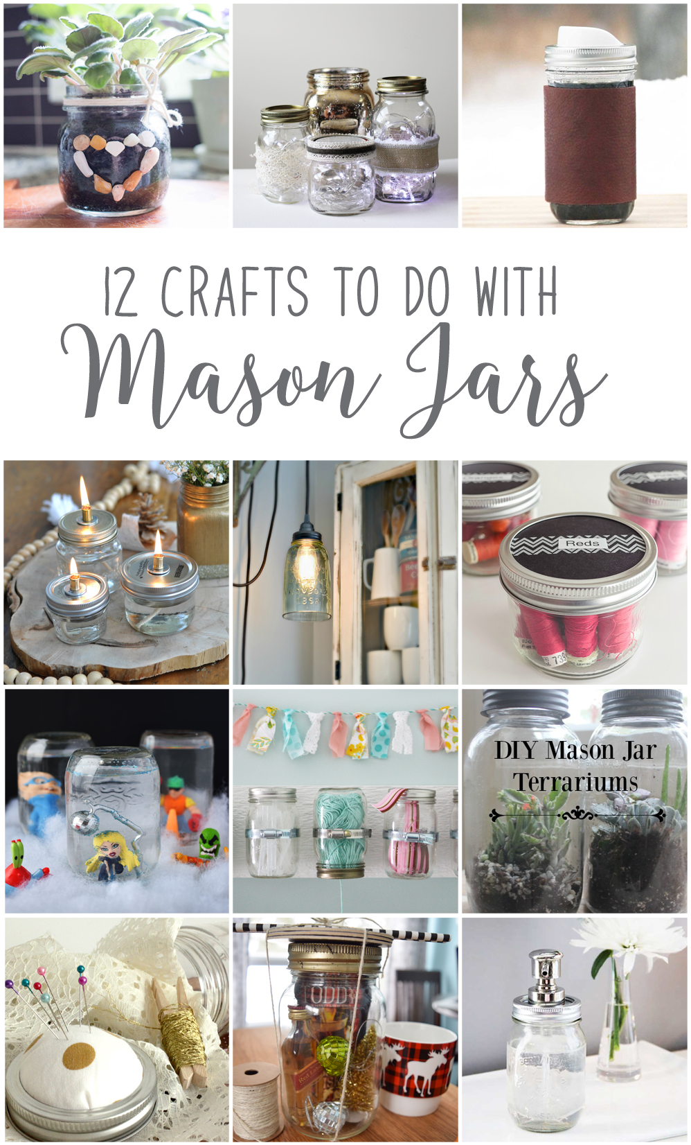 12 Unique Mason Jar DIY Craft Ideas! #12MonthsofDIY