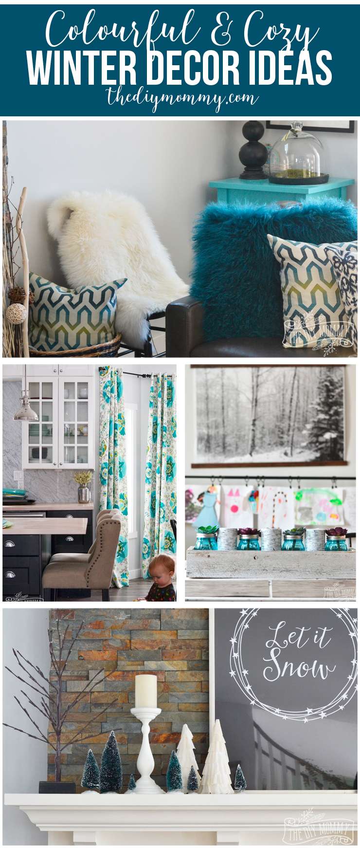 Colorful & Cozy Winter Decor Ideas: Here are some beautiful decor ideas to beat the January blues. I love the pop of colour!