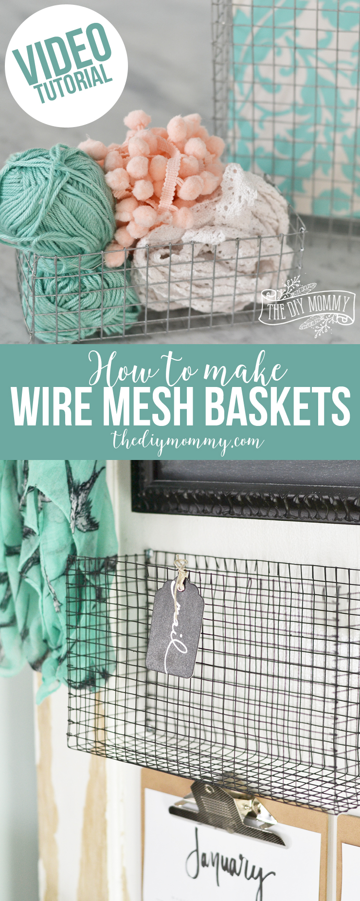 Make Wire Mesh Baskets Of Any Size Video The Diy Mommy