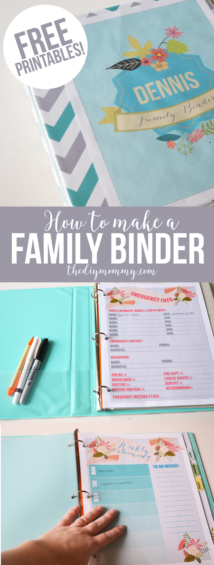 How to make a family binder: useful tips, links, and beautiful FREE printables!