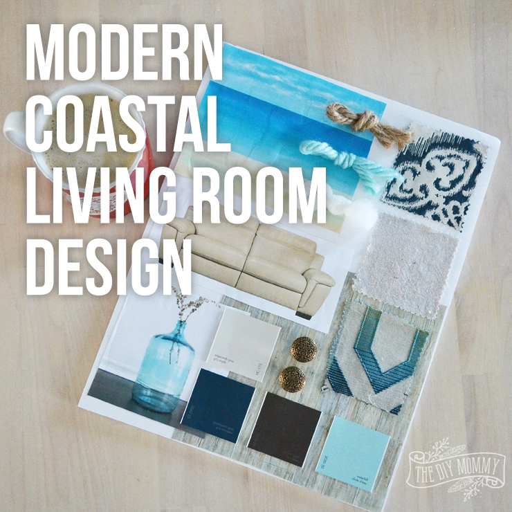Modern Coastal Living Room Design Mood Board