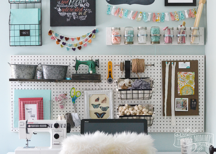 A Craft Room Office Pegboard Gallery Wall With Video Tour The