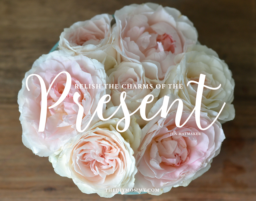 Relish the Charms of the Present - Free Rose Artwork