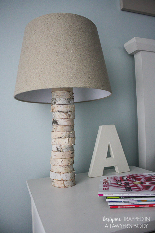 DIY Stacked Wood Lamp
