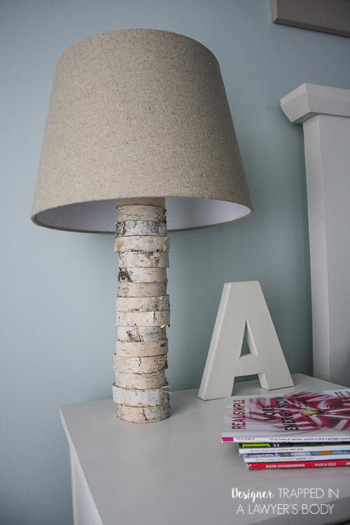 DIY Stacked Wood Lamp