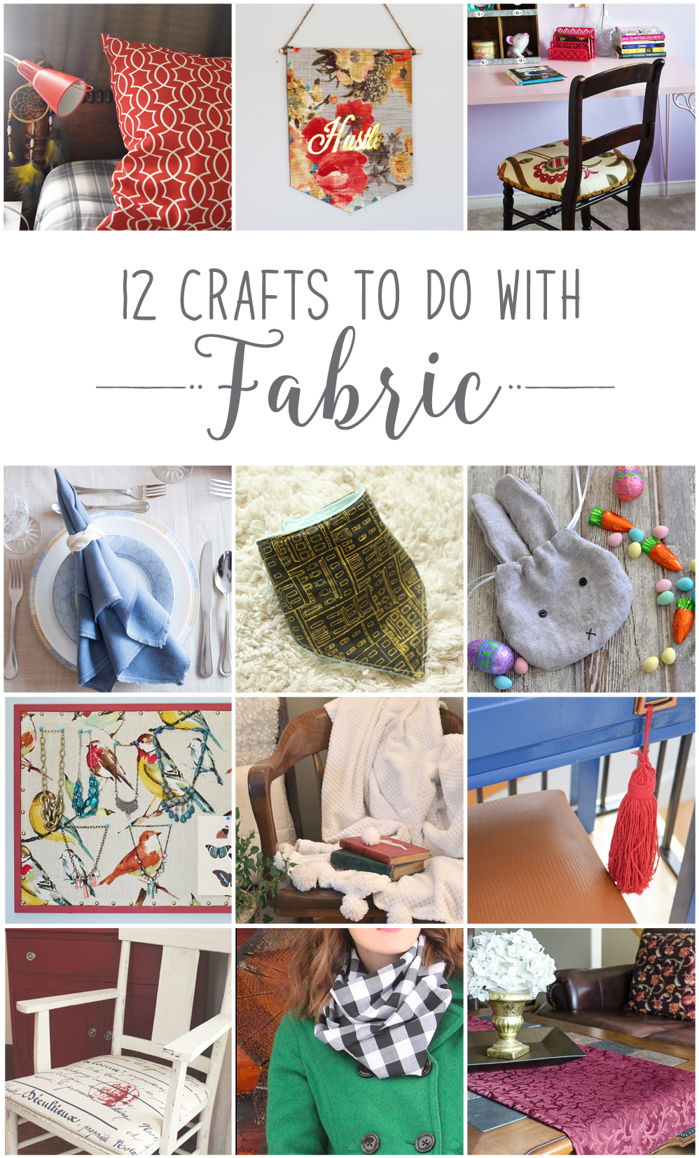 12 Creative Crafts to Make with Fabric! #12MonthsofDIY