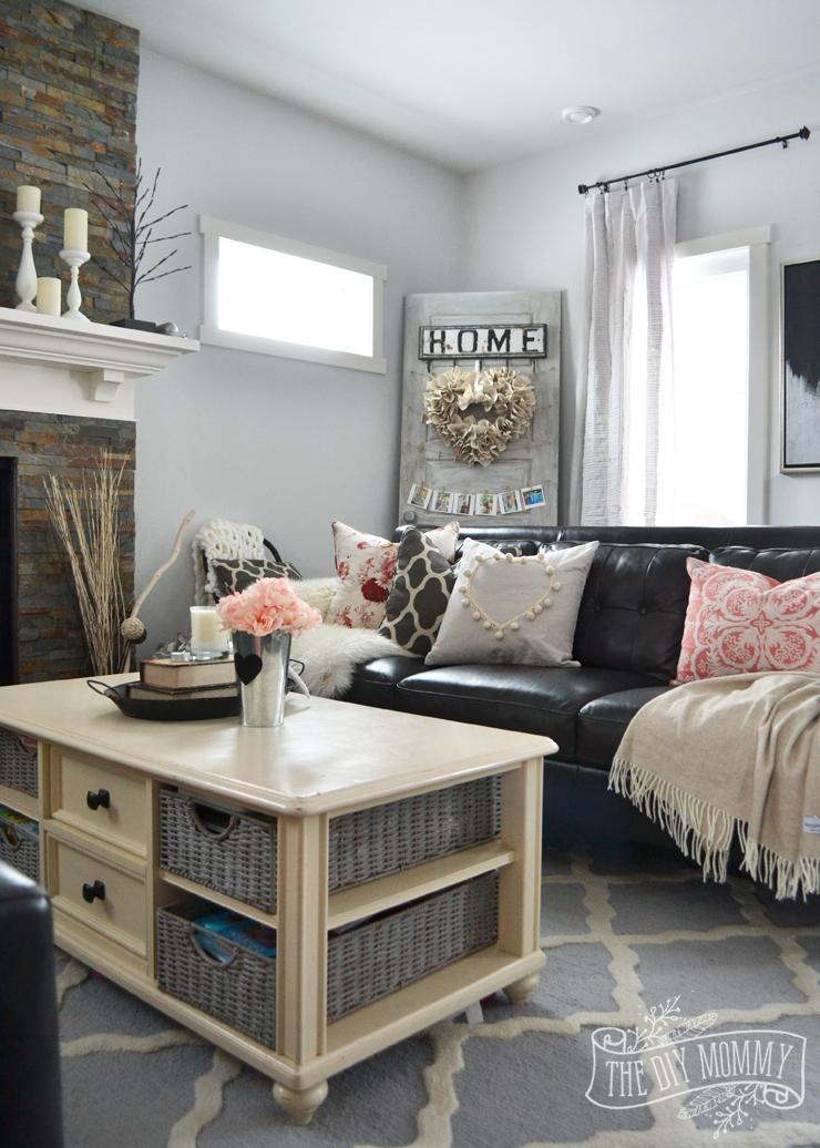 Black Amp Blush Pink Valentine S Day Home Decor Ideas Diy