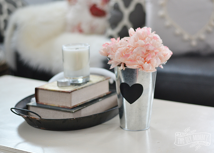 Black And White And Pink Living Room black & blush pink valentine's day home decor ideas + diy pom pom