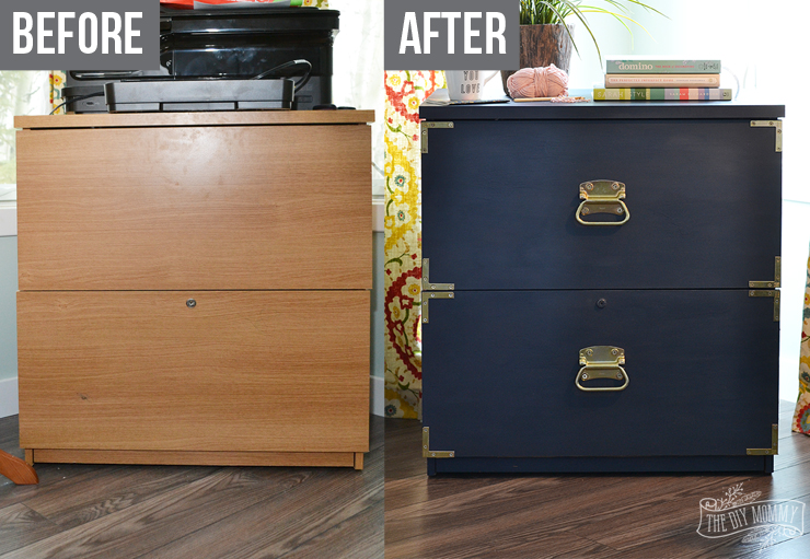 How To Turn An Old Filing Cabinet Or Dresser Into A Gorgeous Campaign