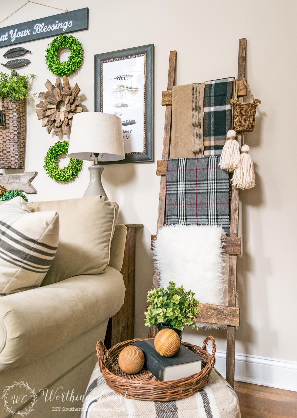diy rustic decorative ladder - Diy Home Design Ideas