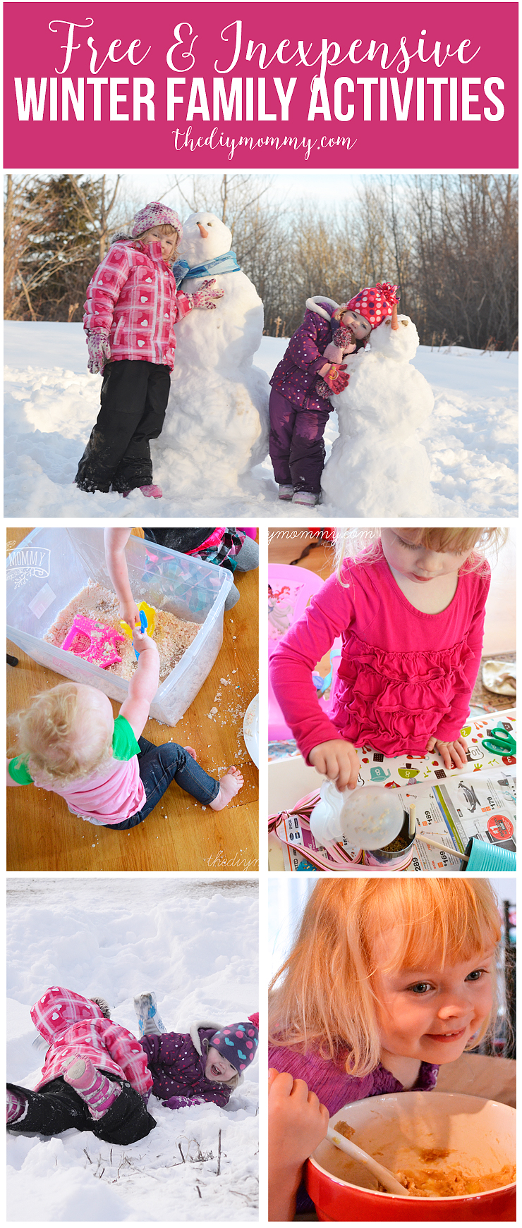 Tons of free winter family activity ideas!