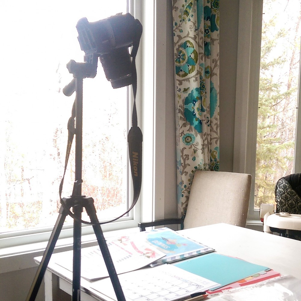 Tripod setup for video tutorials