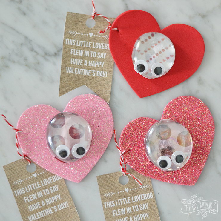 "These love bug ""pets"" are a really cute Valentine craft idea for kids!"