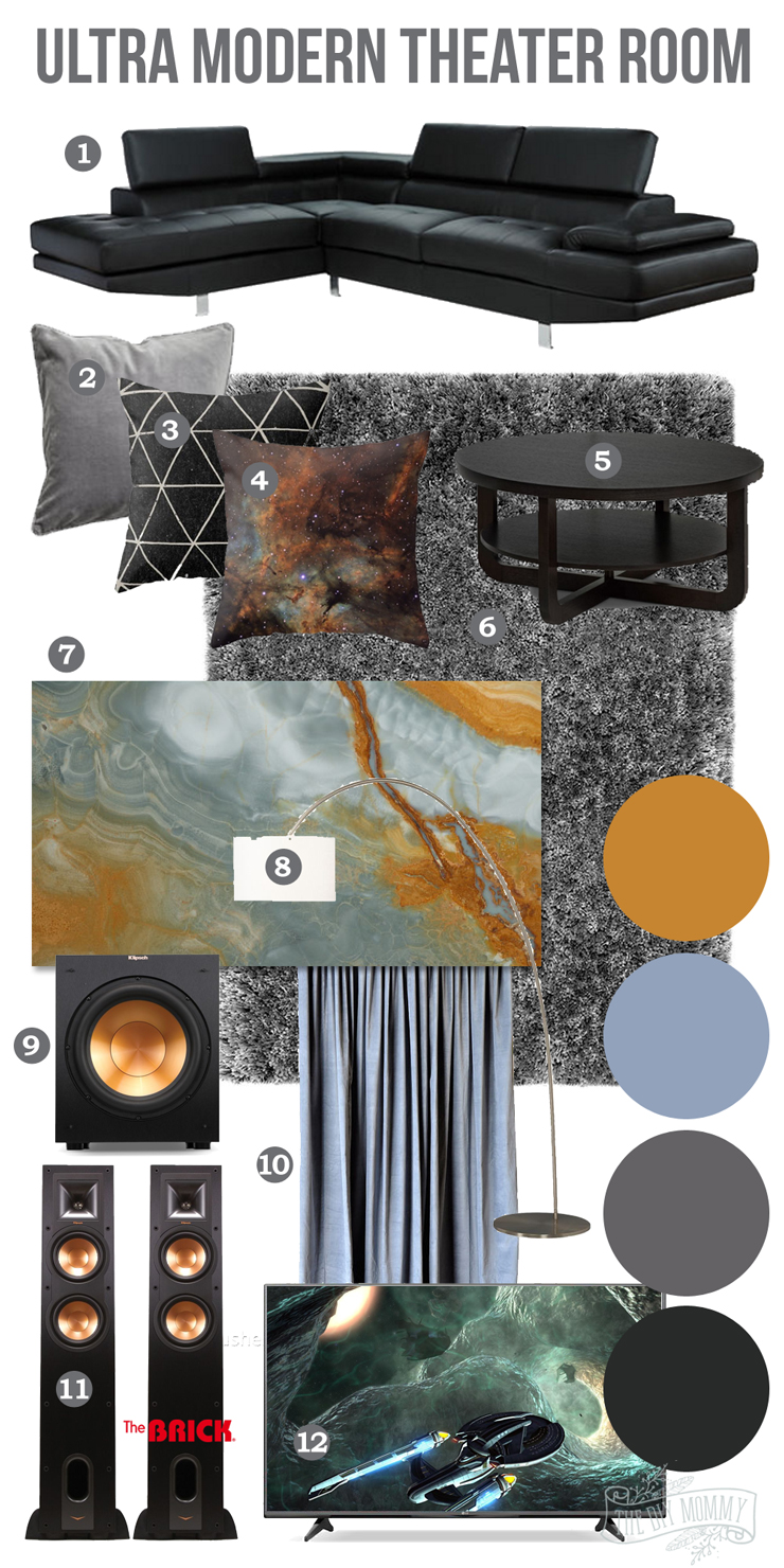 Ultra Modern Man Cave : Mood board an ultra modern theater room man cave the