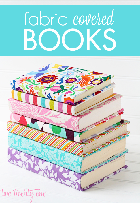 How to cover books with fabric