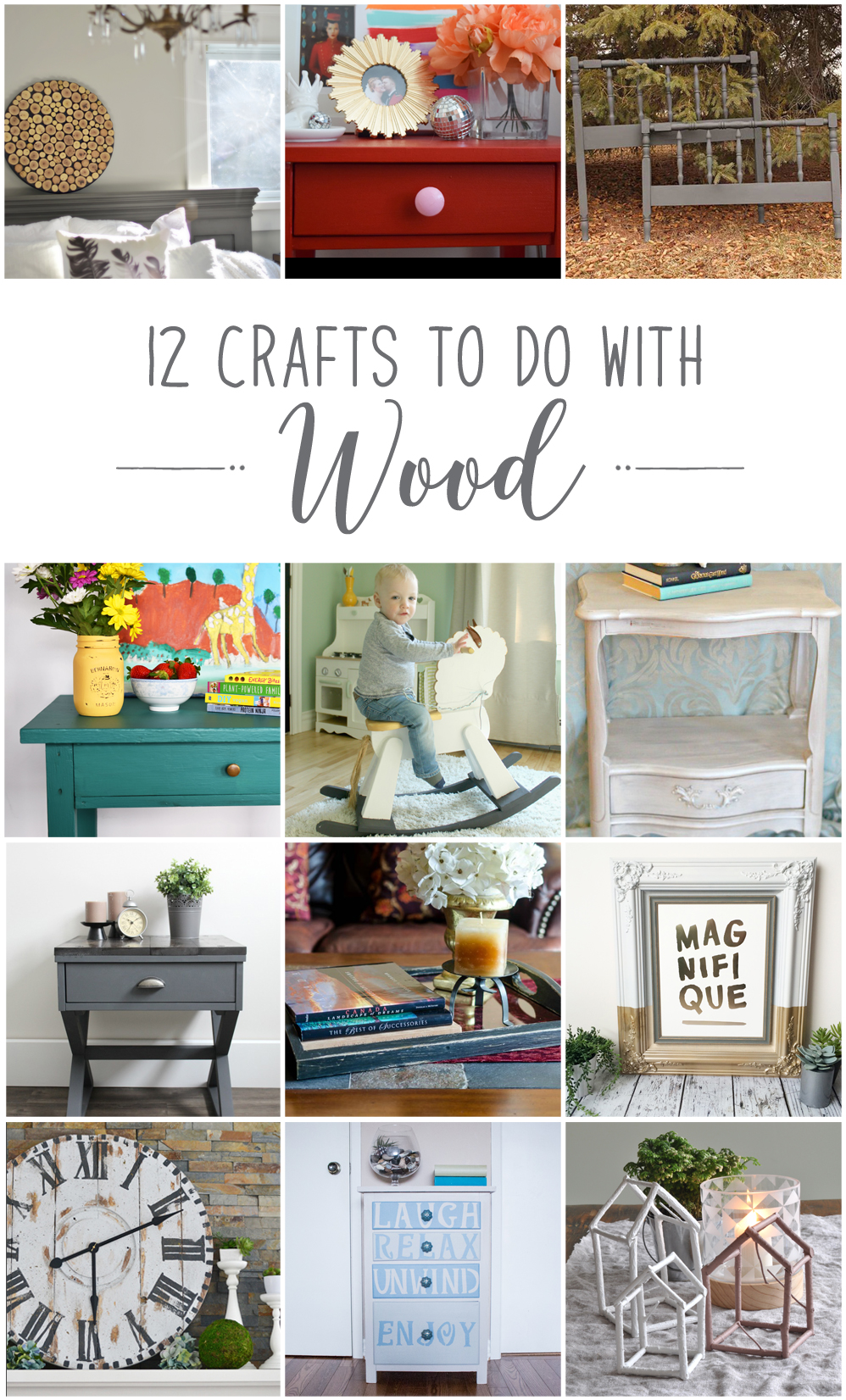 12 Great projects to do with wood #12MonthsofDIY