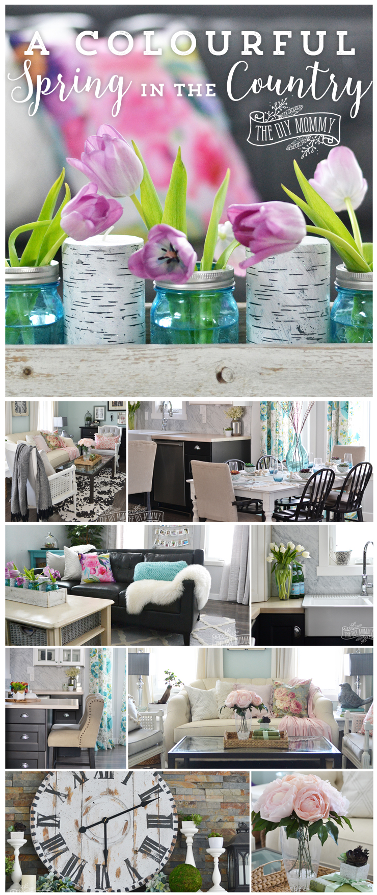 Tons of colorful and beautiful Spring home decor ideas