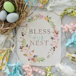 Bless Our Nest – Free Printable Watercolor Artwork for Spring