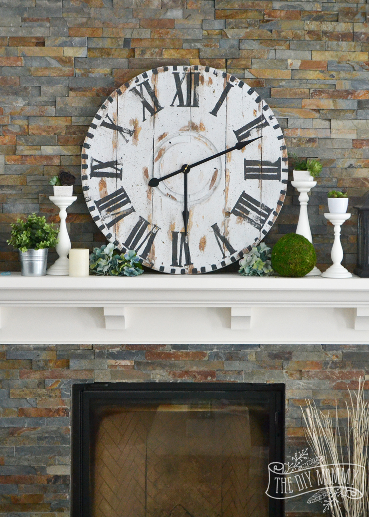 Make a Giant Reclaimed Wood Clock from an Electrical Reel ...