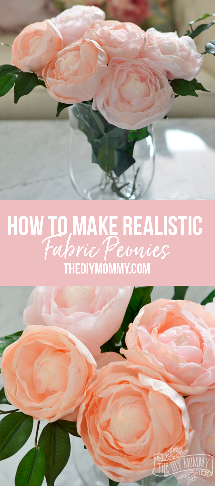 How to make realistic fabric peonies - Video Tutorial!
