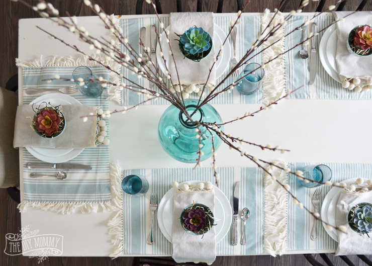 ... A simple but beautiful nature inspired table setting idea for Spring or Easter - love the & A Fresh Nature Inspired Spring or Easter Table Setting #DIYMySpring ...