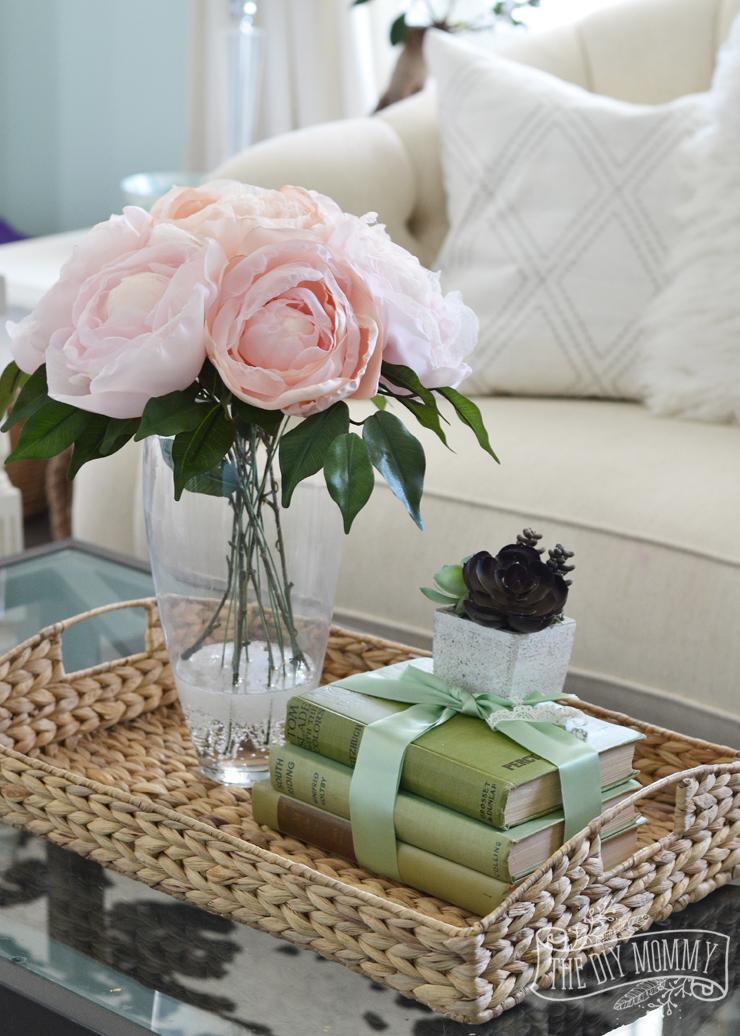 Vintage Floral Spring Sitting Living Room