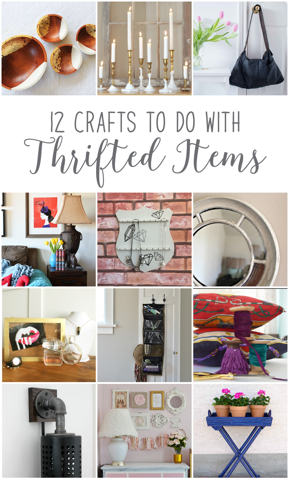12 Excellent DIY Project Ideas to make from Thrifted finds!