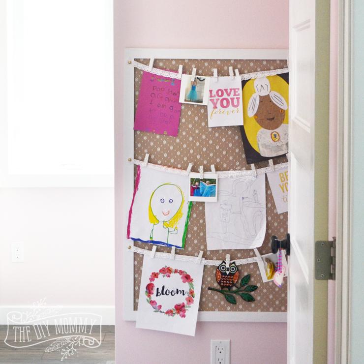 How To Display Kids Art On A Bedroom Wall   An Easy DIY Art Storage Tutorial