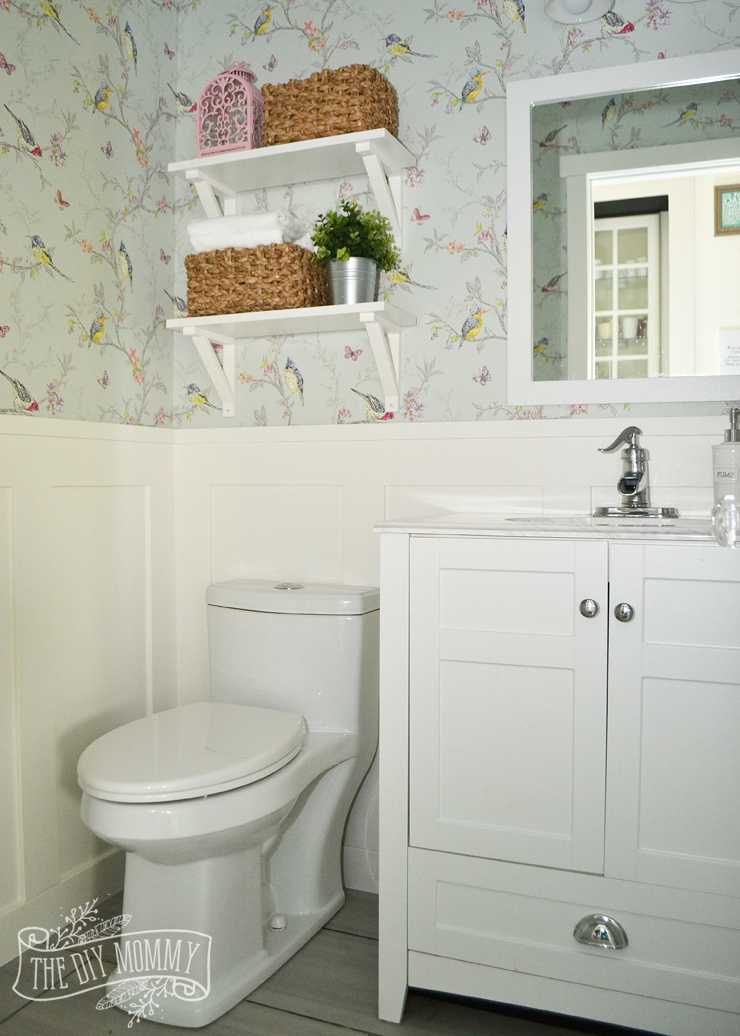wallpaper powder room