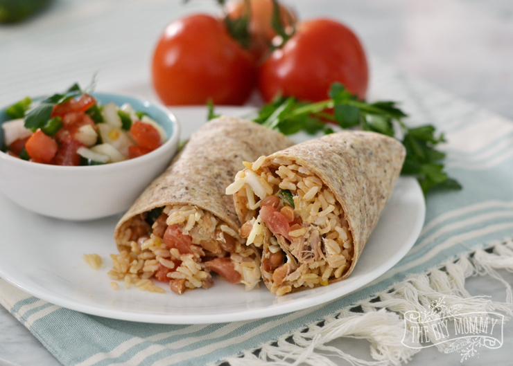 Healthy Whole Grain Chicken Burritos with Minute Rice
