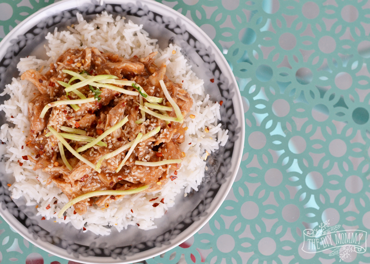 Slow Cooker Honey Garlic Sesame Chicken with Basmati Minute Rice