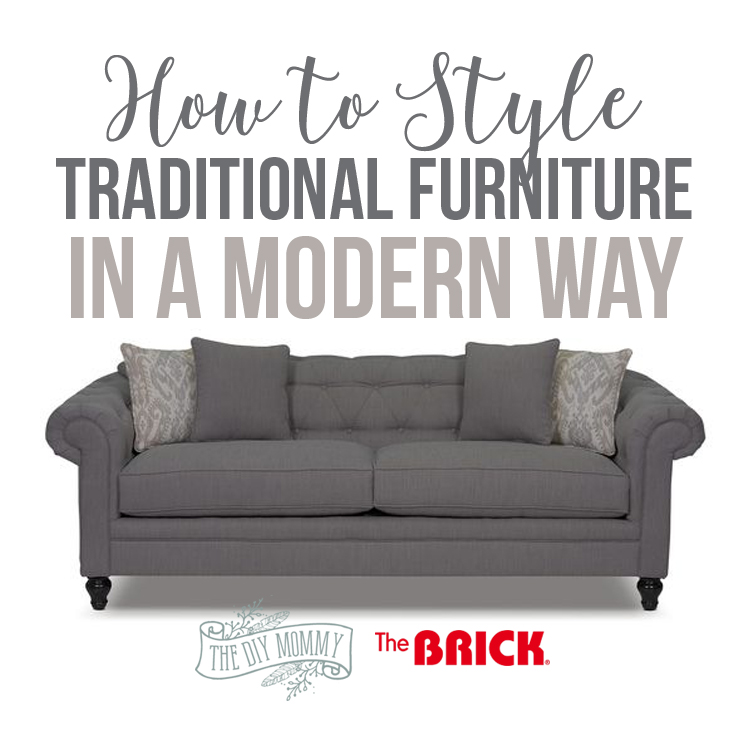 How to style traditional sofas: Julia tufted sofa from The Brick