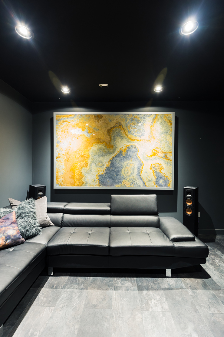 Ultra Modern Man Cave : Our ultra modern theater room man cave reveal the diy mommy