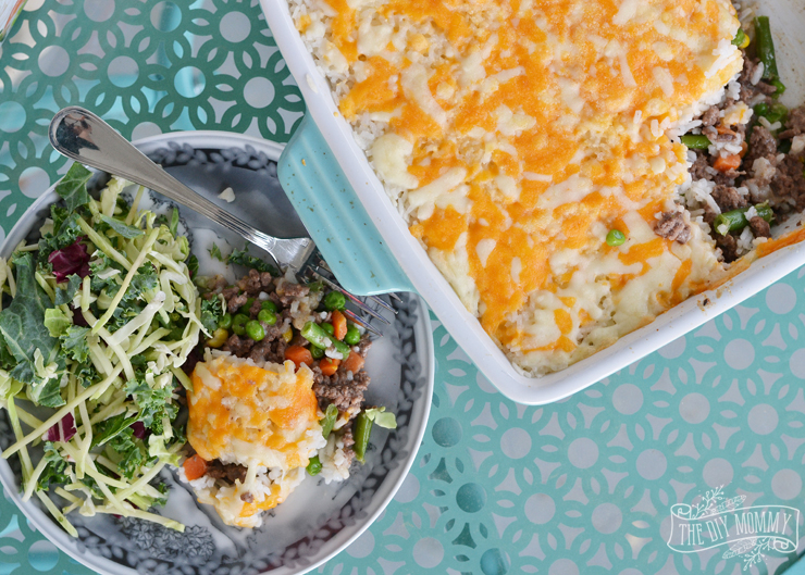 Quick-Fix Beef and Minute Rice (AKA Mock Shepherd's Pie!)