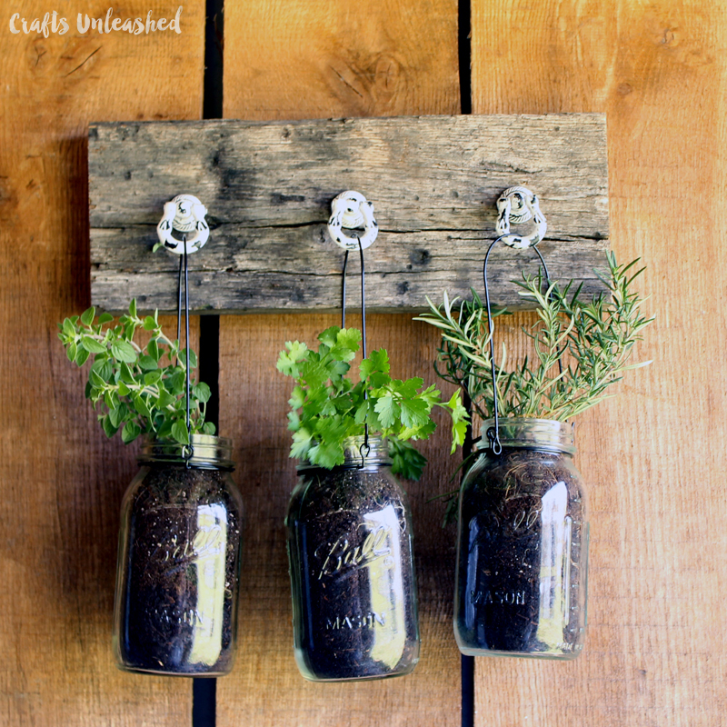 Diy herb jar hanging garden the creative corner 94 diy for Pinterest crafts for home decor