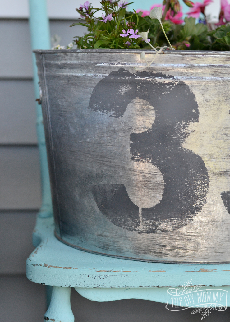 Make A Faux Vintage Galvanized Planter Outdoor