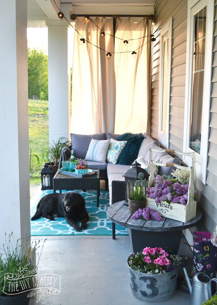 French Country Boho Porch Decor Ideas In Teal Aqua Gray White Black
