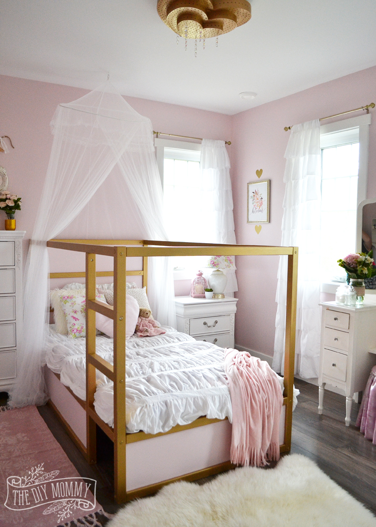 a pink white gold shabby chic glam girls bedroom 16680 | glam shabby chic pink white gold girls bedroom 7