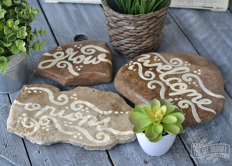Beautiful & easy DIY painted rock garden markers